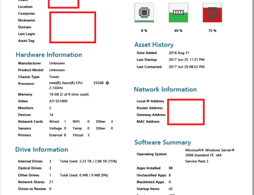 Computer Audit with Installed Software Report