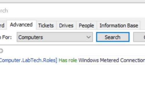 ConnectWise Automate Role Definition – Windows Metered Connection On
